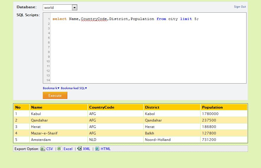 Enhanced SQL Web Console for MySQL - CodeCanyon Item for Sale