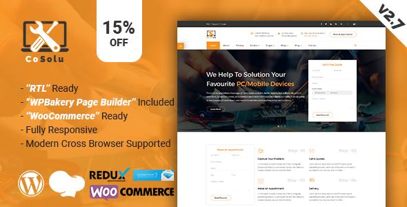 CoSolu | Multipurpose Servicing and Repairing WordPress Theme
