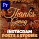 Thanksgiving Day Instagram Promo Mogrt 136 - VideoHive Item for Sale