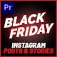 Black Friday Instagram Promo Mogrt 140 - VideoHive Item for Sale