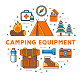 Camping Vector Elements - GraphicRiver Item for Sale