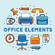 Office Vector Elements - GraphicRiver Item for Sale