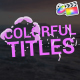 Simple Colorful Titles | FCPX - VideoHive Item for Sale