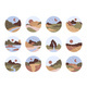 Abstract Landscape View Icon Set - GraphicRiver Item for Sale