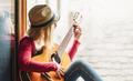 Woman playing the guitar - PhotoDune Item for Sale