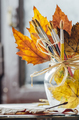 Autumn still life with paint brushes - PhotoDune Item for Sale
