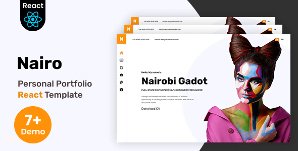 Nairo - Personal Portfolio React Template + RTL