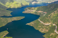 Aerial panoramic view of a mountain lake - PhotoDune Item for Sale