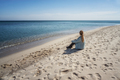 Woman at a sandy beach - PhotoDune Item for Sale