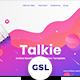 Talkie - Online Meeting Googleslide Templates - GraphicRiver Item for Sale