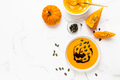Homemade pumpkin soup with pumpkin oil and seeds - PhotoDune Item for Sale