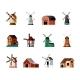 Retro Windmills Set - GraphicRiver Item for Sale