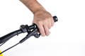 Hand holding the handlebars of a bicycle - PhotoDune Item for Sale
