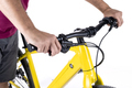 Hands holding the handlebars of a bicycle - PhotoDune Item for Sale