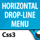 CSS3 Horizontal Drop Line Menu - CodeCanyon Item for Sale