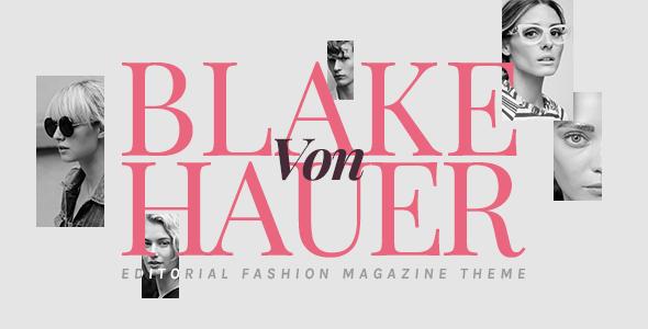 Blake von Hauer - Editorial Fashion Magazine Theme