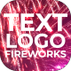 Text & Logo Fireworks - VideoHive Item for Sale