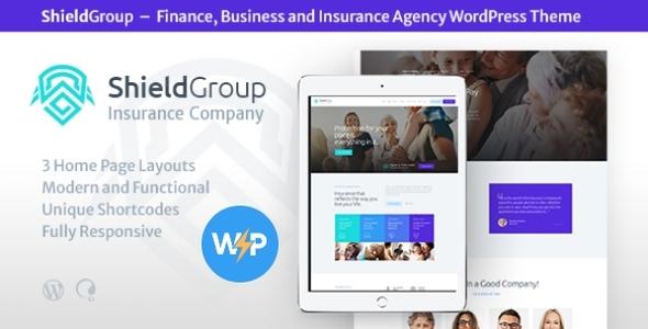 ShieldGroup   An Insurance & Finance WordPress Theme