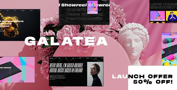 Galatea - Creative Portfolio WordPress Theme