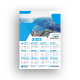 One Page Wall Calendar 2022 - GraphicRiver Item for Sale