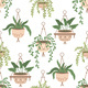 Scandinavian Macrame Plant Seamless Pattern - GraphicRiver Item for Sale
