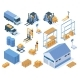 Isometric Warehouse Storage Delivery Logistic - GraphicRiver Item for Sale
