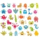 Set of Funny Little Monsters - GraphicRiver Item for Sale