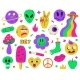 Psychedelic Surreal Abstract Neon Stickers  - GraphicRiver Item for Sale