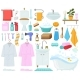 Cartoon Bathtub Towels and Hygiene Products - GraphicRiver Item for Sale
