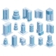 Isometric City Urban Skyscrapers Buildings  - GraphicRiver Item for Sale