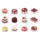 Isometric Birthday Event Tasty Strawberry Vanilla - GraphicRiver Item for Sale