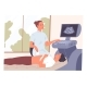 Patient Lying on the Couch During an Ultrasound - GraphicRiver Item for Sale
