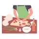 Man Slices Tomatoes on Cutting Board Preparing - GraphicRiver Item for Sale
