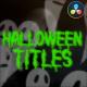 Halloween Titles | DaVinci Resolve - VideoHive Item for Sale