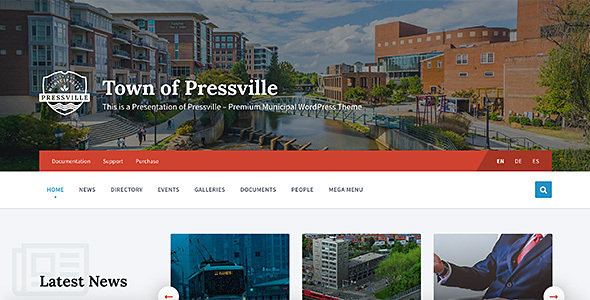 Pressville - Municipal & City Government WordPress Theme