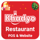 Khadyo Restaurant Software with Online Ordering Website & Stock Management - CodeCanyon Item for Sale