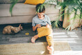 Boy using mobile phone at home. - PhotoDune Item for Sale