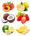Set of fruits on white backgrounds - PhotoDune Item for Sale