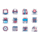 Office Supplies Line Icons Set - GraphicRiver Item for Sale