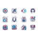 Music and Radio Line Icons Set - GraphicRiver Item for Sale