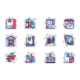 Shipping Line Icons Set - GraphicRiver Item for Sale