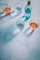Water in vintage glasses with  bottle - PhotoDune Item for Sale