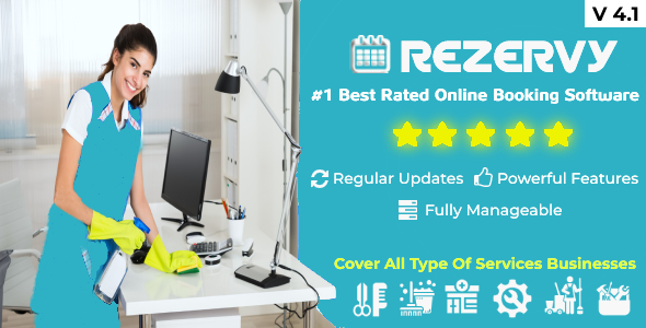 Rezervy - Online bookings system for cleaning, maids, plumber, maintenance, repair, salon services