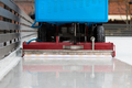 Polished ice ready for match. Ice maintenance machine closeup - PhotoDune Item for Sale