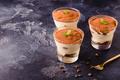 Traditional Italian dessert tiramisu in a glass. - PhotoDune Item for Sale