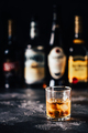 Whiskey with ice on a dark table - PhotoDune Item for Sale