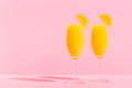 Refreshing orange Mimosa cocktails with champagne. - PhotoDune Item for Sale