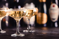 Champagne glasses on a dark background. - PhotoDune Item for Sale