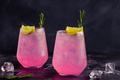Refreshing pink drink or cocktail with ice - PhotoDune Item for Sale