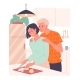 Woman Prepares a Meal a Loving Man Embraces Her - GraphicRiver Item for Sale
